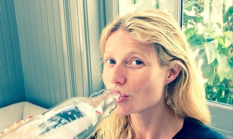 Gwyneth Paltrow and some (presumably, happy) water.