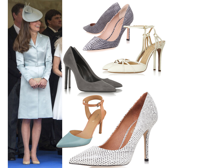 Kate-Middleton-Christopher-Kane-Satin-Coat-Dress-Jimmy-Choos