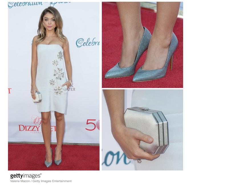 Sarah-Hyland-Pucci-Strapless-Dress