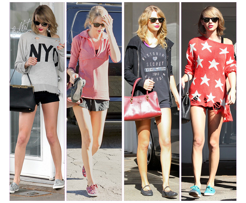 3f7c06d1448 The Many Looks Taylor Swift Wore to the Gym This SummerThe Dress Down