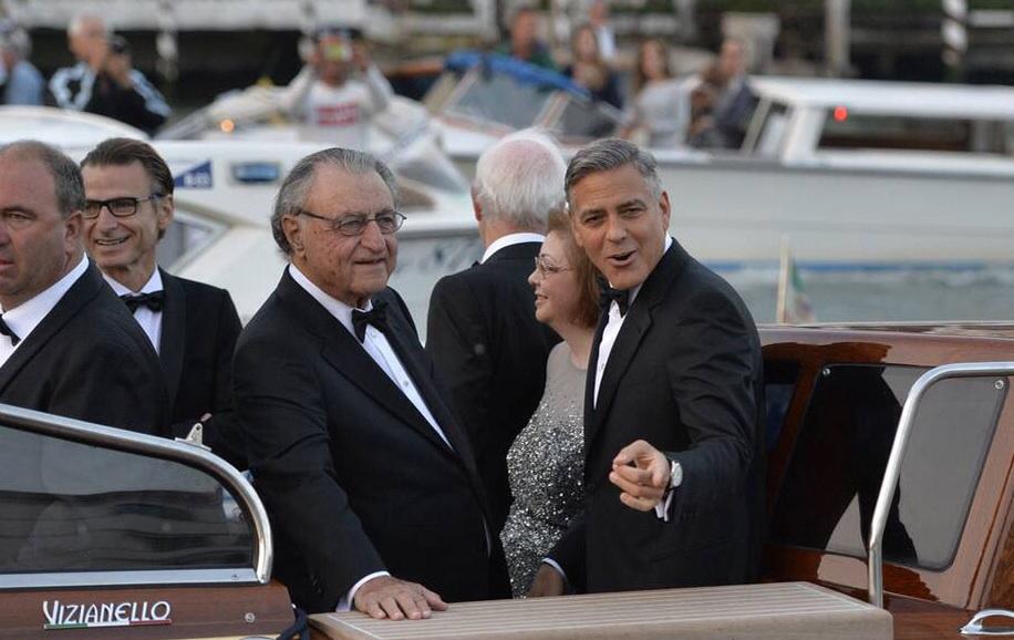 George-Clooney's-Weding-Day-Tuxedo-Venice-Boat-Fashion
